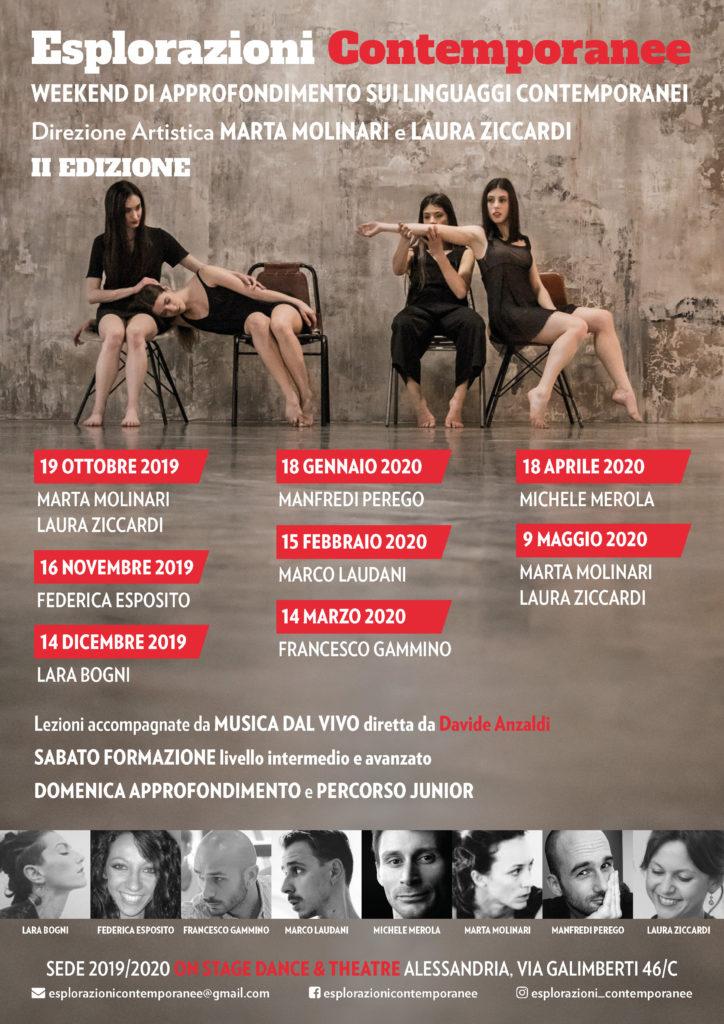 Esplorazoni contemporanee Poster Calendario appuntamenti 2019 - 2020