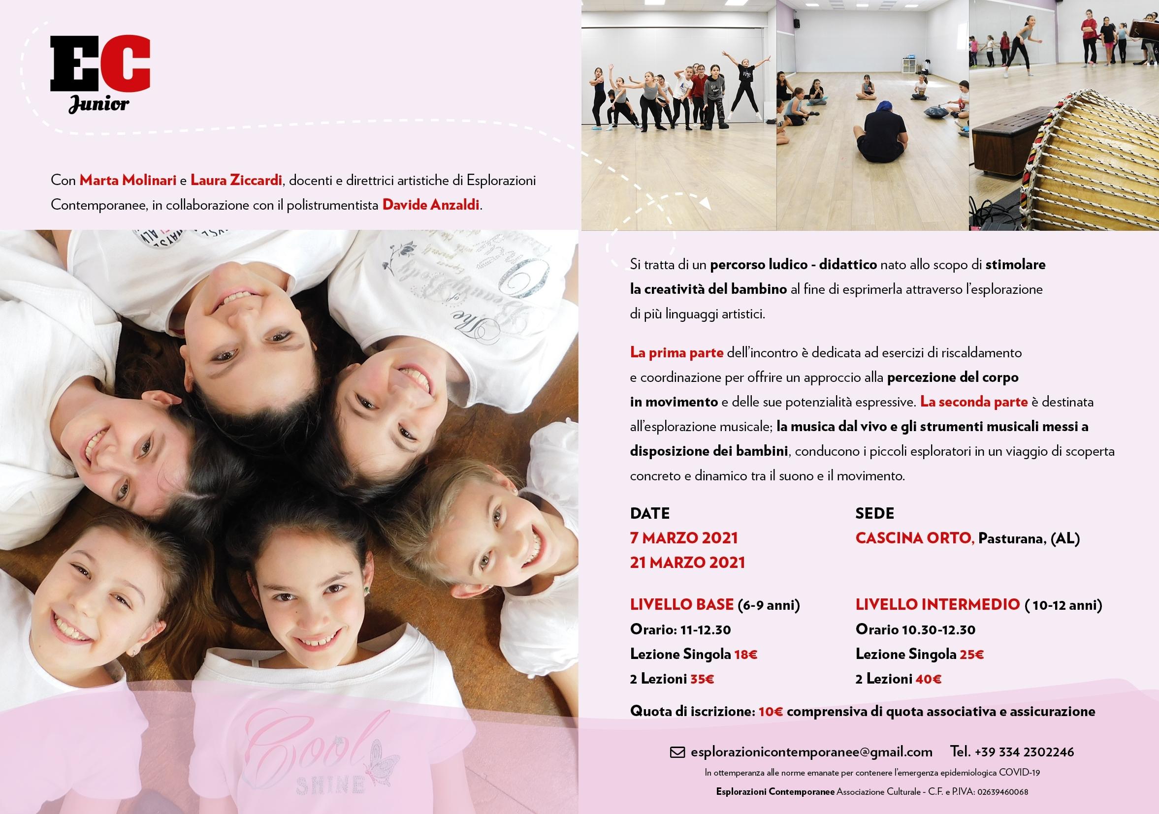 EC Junior programma febbraio2021 Cascina Orto